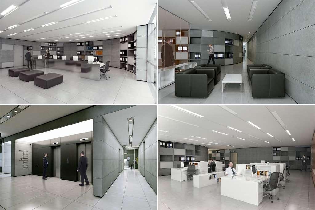 چند نمونه از فضاهای اداری پروژه ستاره سرو