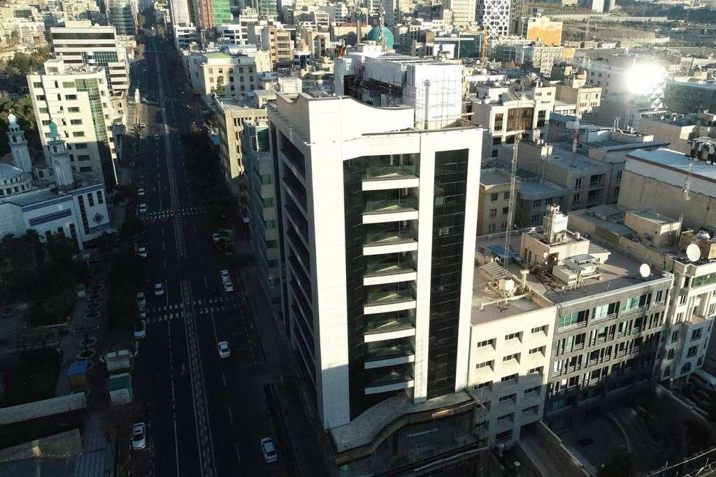 نمای جنوب غربی ساختمان از ارتفاع
